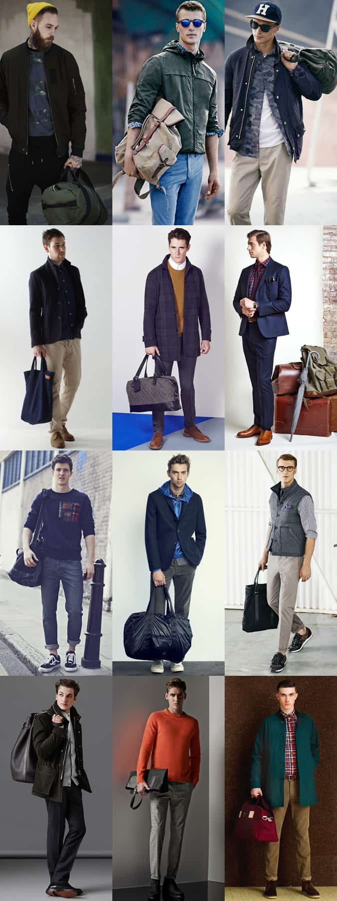 Men's Suede and Canvas Bags - Backpacks, Totes, Holdalls and Duffles - Outfit Inspiration Lookbook