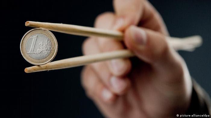EU wirbt um Chinas finanzielle Hilfe in der Eurokrise, China ist zurückhaltend. Copyright: dpa