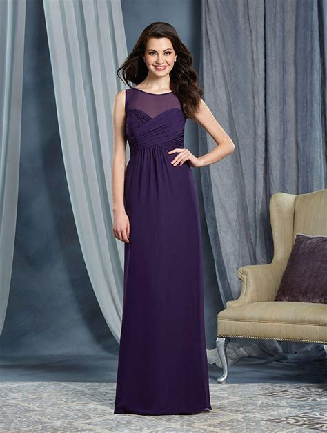 Alfred Angelo 7362L Draped Chiffon Bridesmaid Gown: French