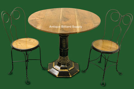Antique Billiard Supply: Brunswick Antique Game Table