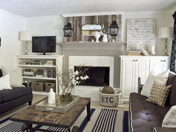 Love love love how it's a neutral living room with darker furniture that won't show stains as much as a white and tan couch!