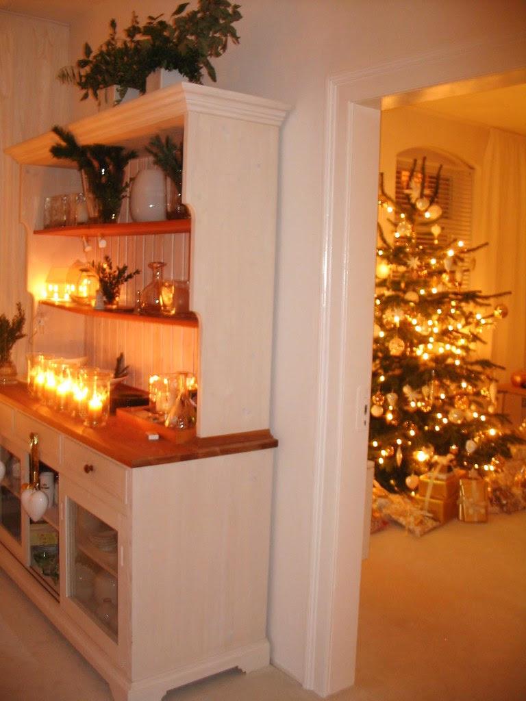 Goldenes Quilt - Weihnachten