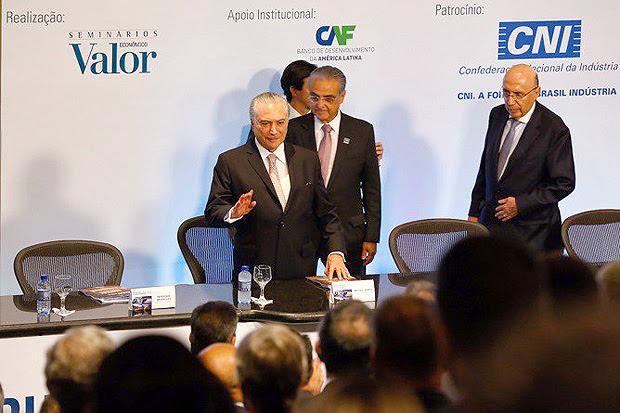 O presidente Michel Temer durante Seminário de Infraestrutura e Desenvolvimento do Brasil, em Brasília
