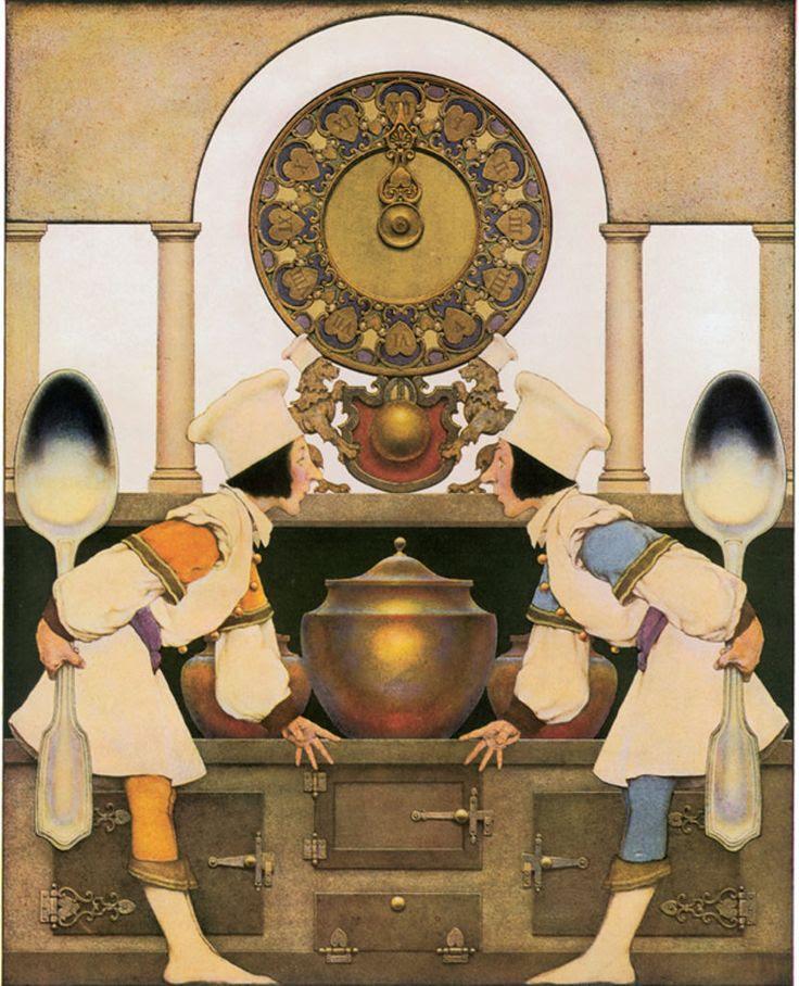 Ilustración de Maxfield Parrish para The Knave of Hearts