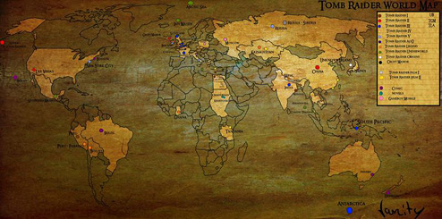 Tomb Raider World Map