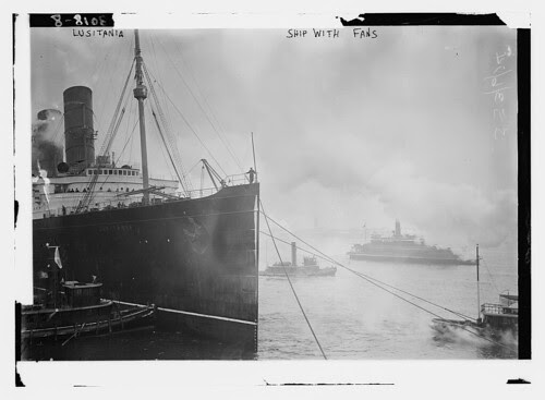LUSITANIA -- Ship with fans (LOC)