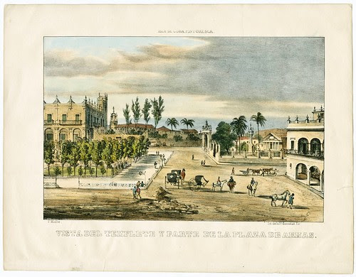 Vista del Templete y Parte de la Plaza de Armas