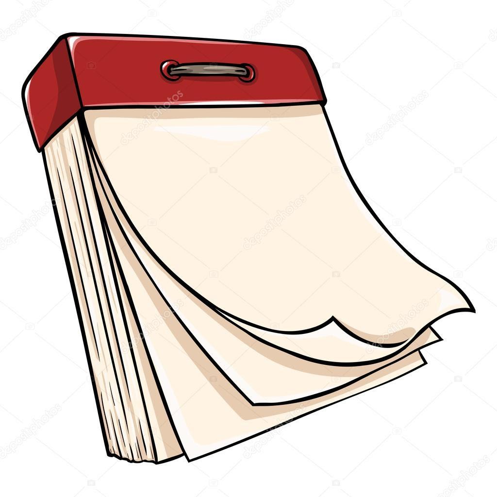 depositphotos_52278203 Vector cartoon tear off calendar