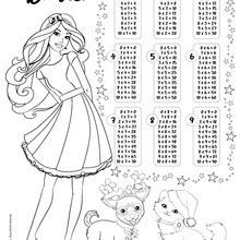 Dibujos Para Colorear Tablas De Multiplicar Barbie Eshellokidscom