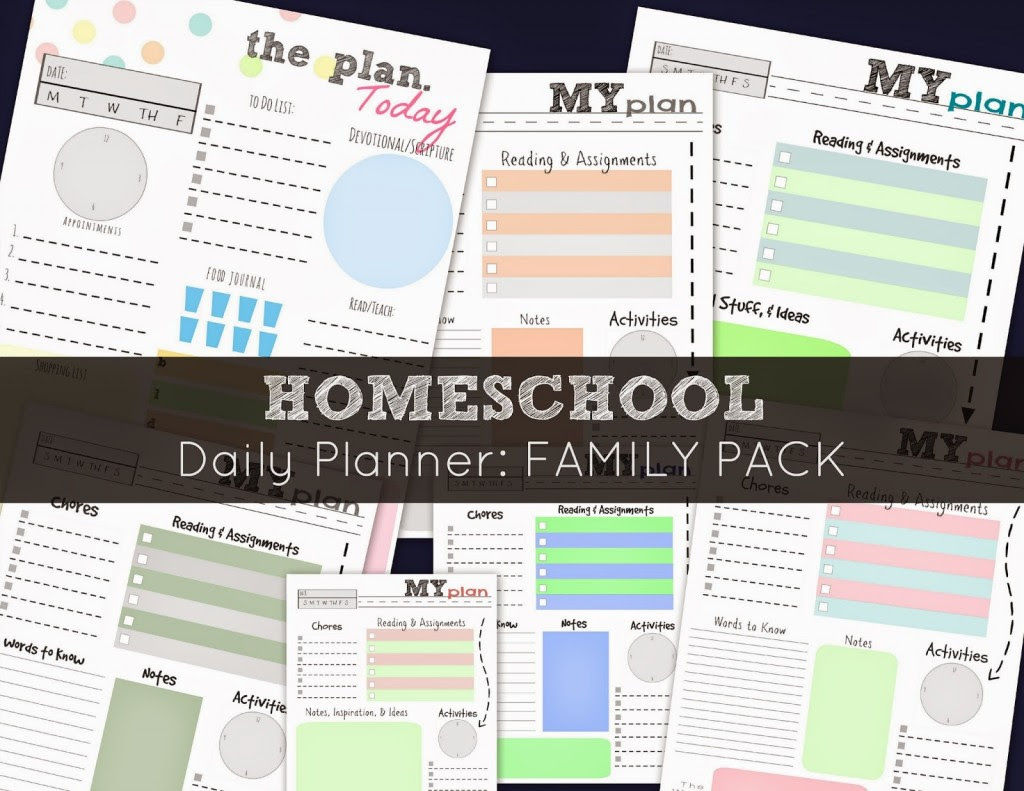 FREE Homeschool Daily Planner: Family Pack   Free Homeschool Deals ©