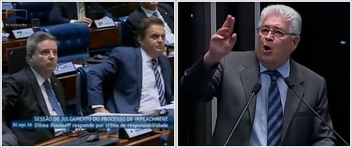 """""""Canalha, Canalha!"""" – Requião transcreve fala de Tancredo na frente de Aécio"""