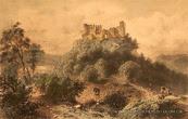 Хустський замок на малюнку Л. Рохбока 2