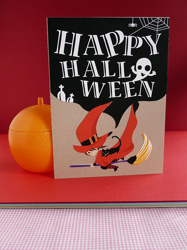 witch you a happy halloween blank card