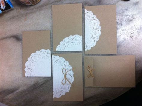 DIY Doily Envelopes   Weddingbee Photo Gallery