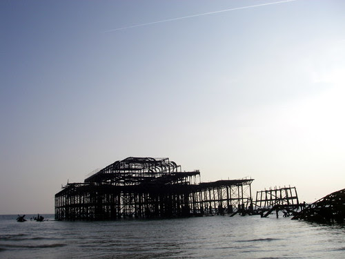 Brighton West Pier at Low Tide