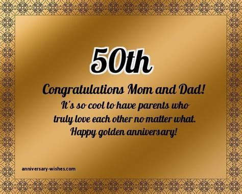 50th Anniversary Wishes   Happy 50th Anniversary Quotes