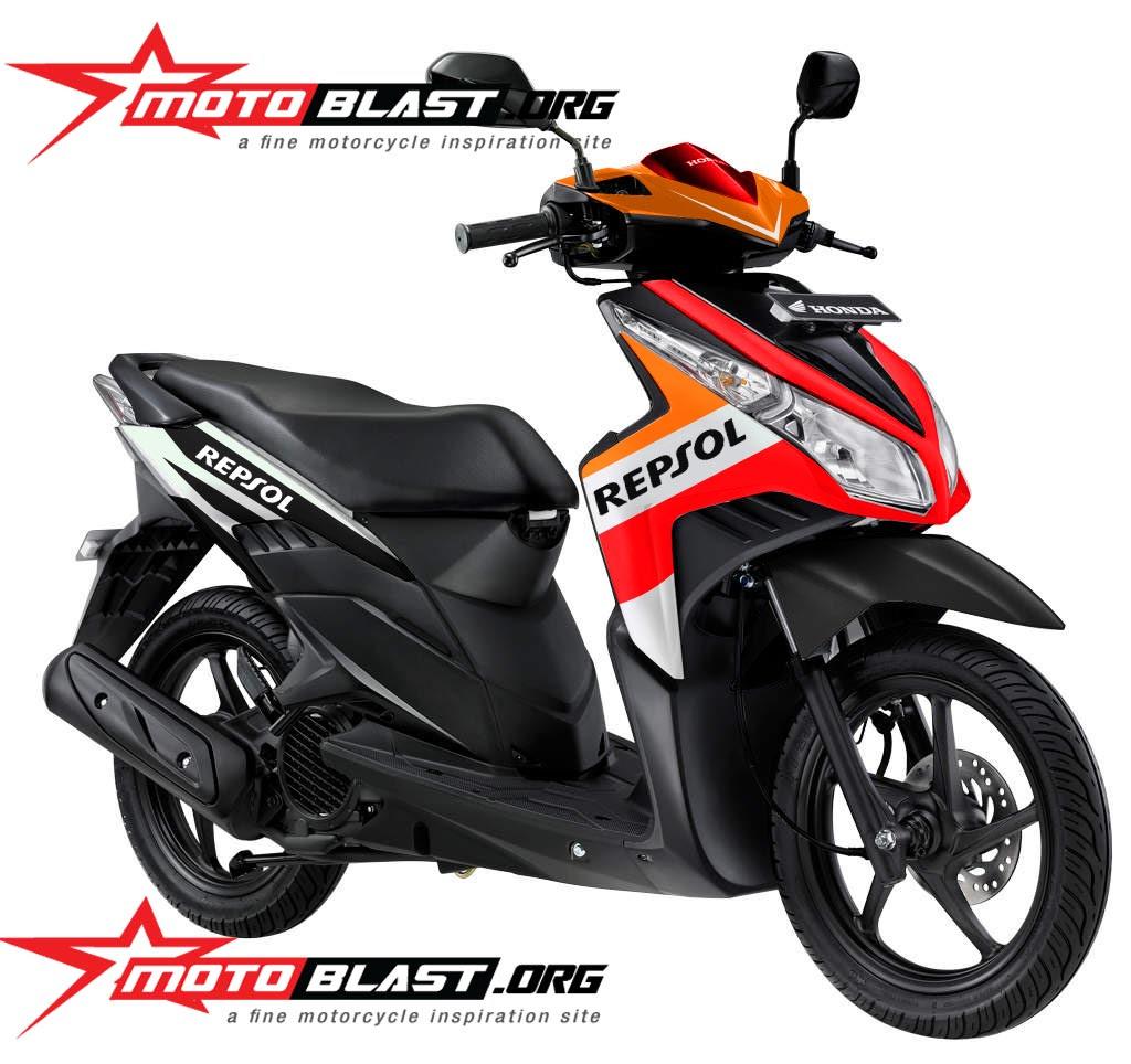 Modif Striping Honda Vario Techno 110 Repsol MOTOBLAST
