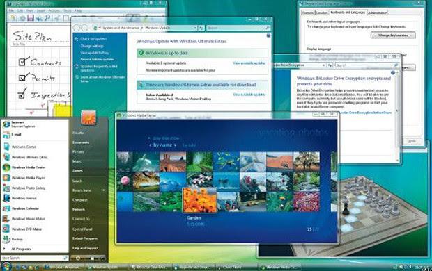 O Windows Vista estava disponível em 35 idiomas. Incluiu melhorias na proteção de dados, motivadas pelo avanço na venda de equipamentos portáteis e novas demandas de segurança (Foto: Divulgação/Microsoft)
