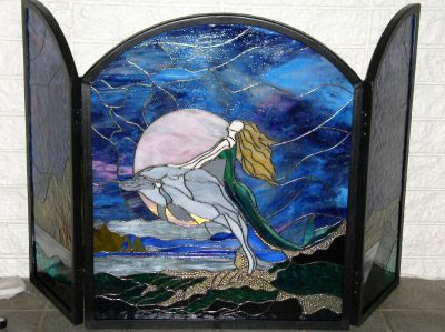 Custom stained glass window photos, etched and mosaic
