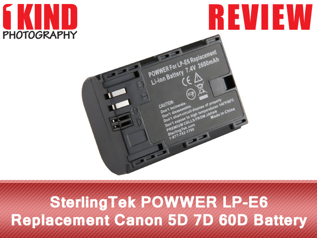 Review: SterlingTek POWWER LP-E6 Replacement Canon EOS 5D 7D 60D Battery