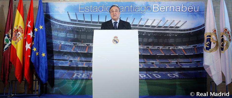 Florentino Pérez compareció ante los medios de comunicación