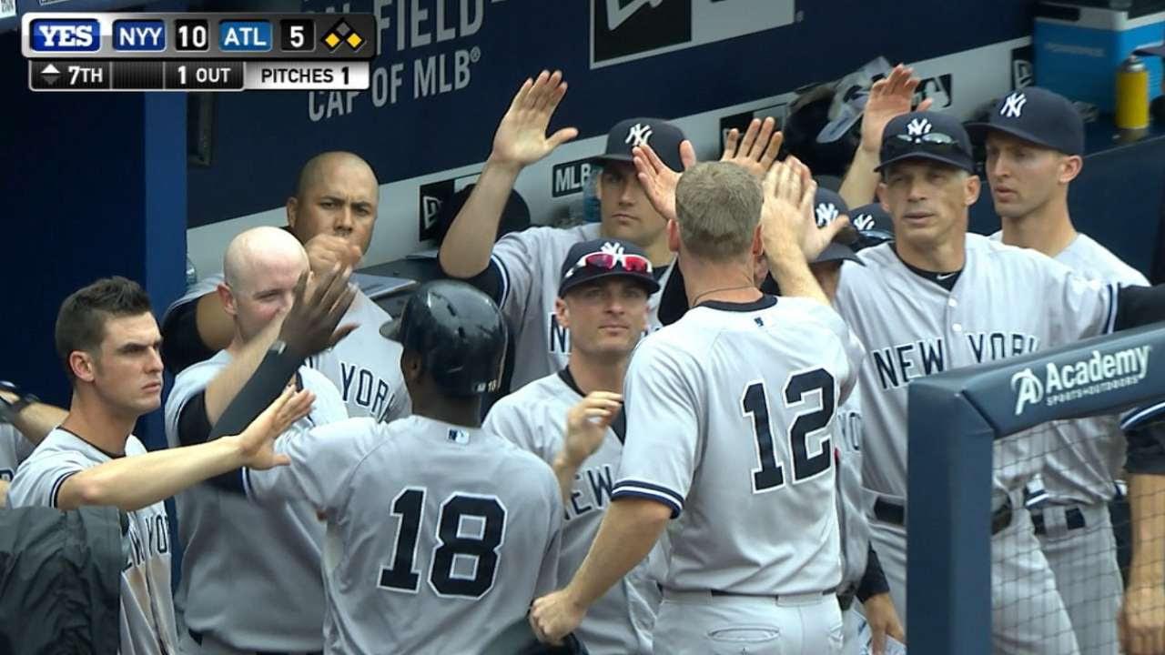 Yankees sellan barrida en Atlanta con otra paliza
