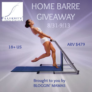 Fluidity at home barre Giveaway- Ends 9-13-15. ARV $479. US 18+.