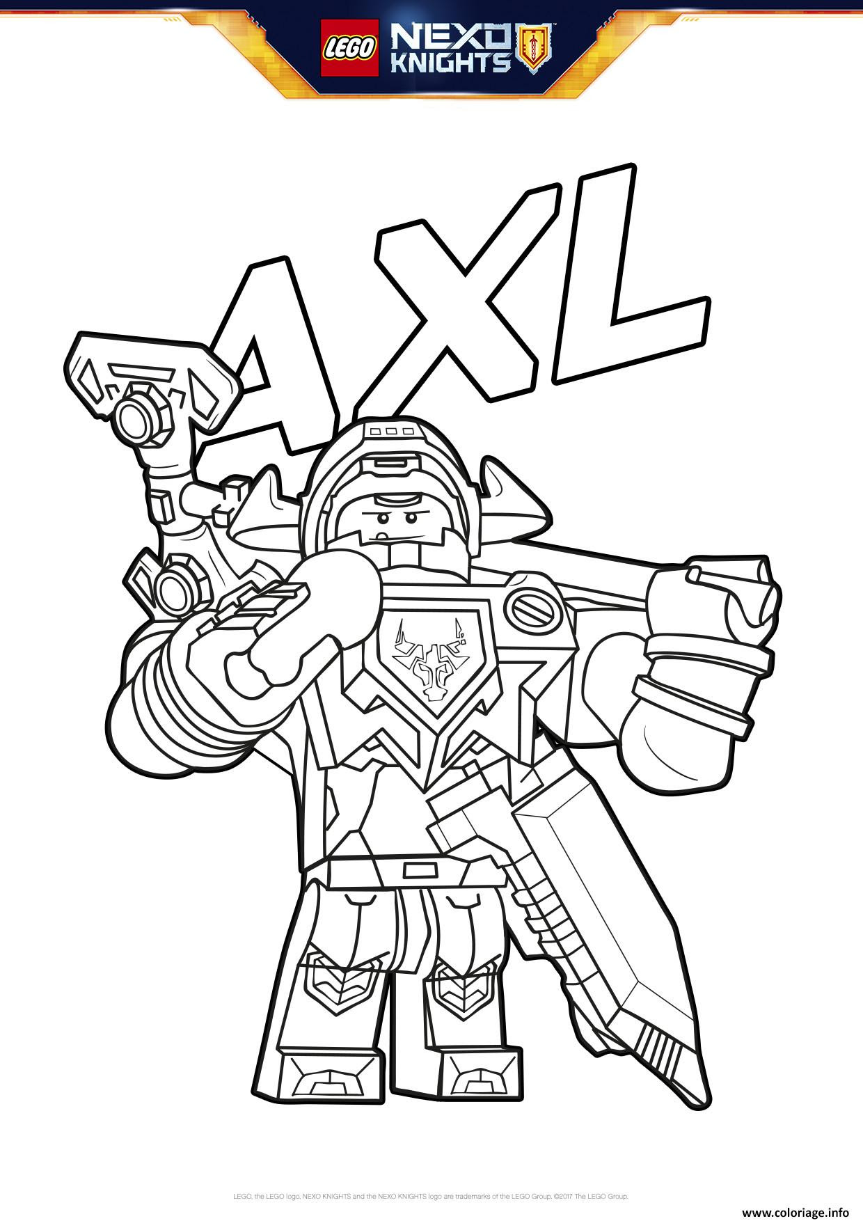 Coloriage Lego Nexo Knights Bouclier Axl Jecoloriecom