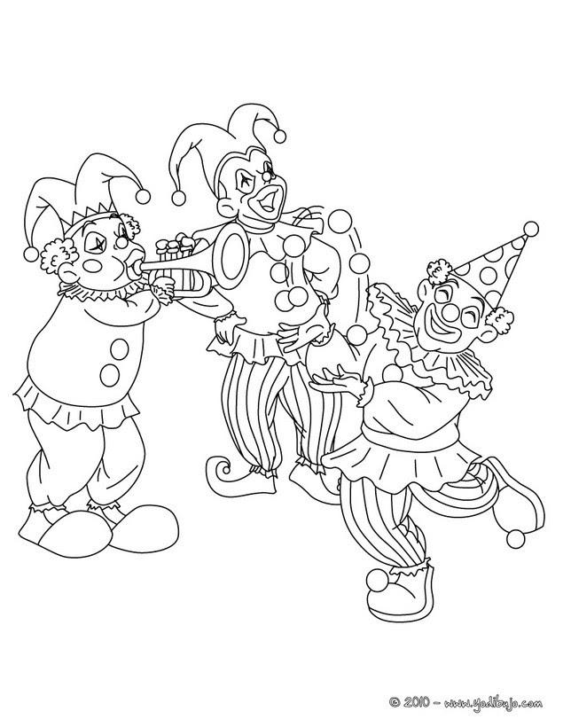 Dibujos Para Colorear Payaso De Carnaval Eshellokidscom