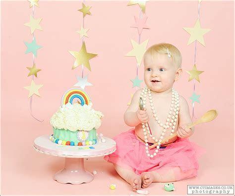 Beautiful Rainbow Baby Rae's Cake Smash   C T images