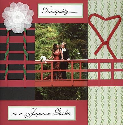 Wedding scrapbook layouts