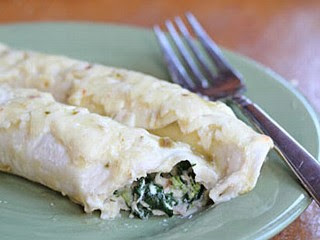 PHOTO: Erin Chase's make-ahead chicken and spinach enchiladas are shown here.
