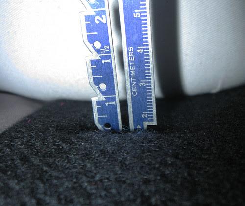 Buttonhole depth ruler