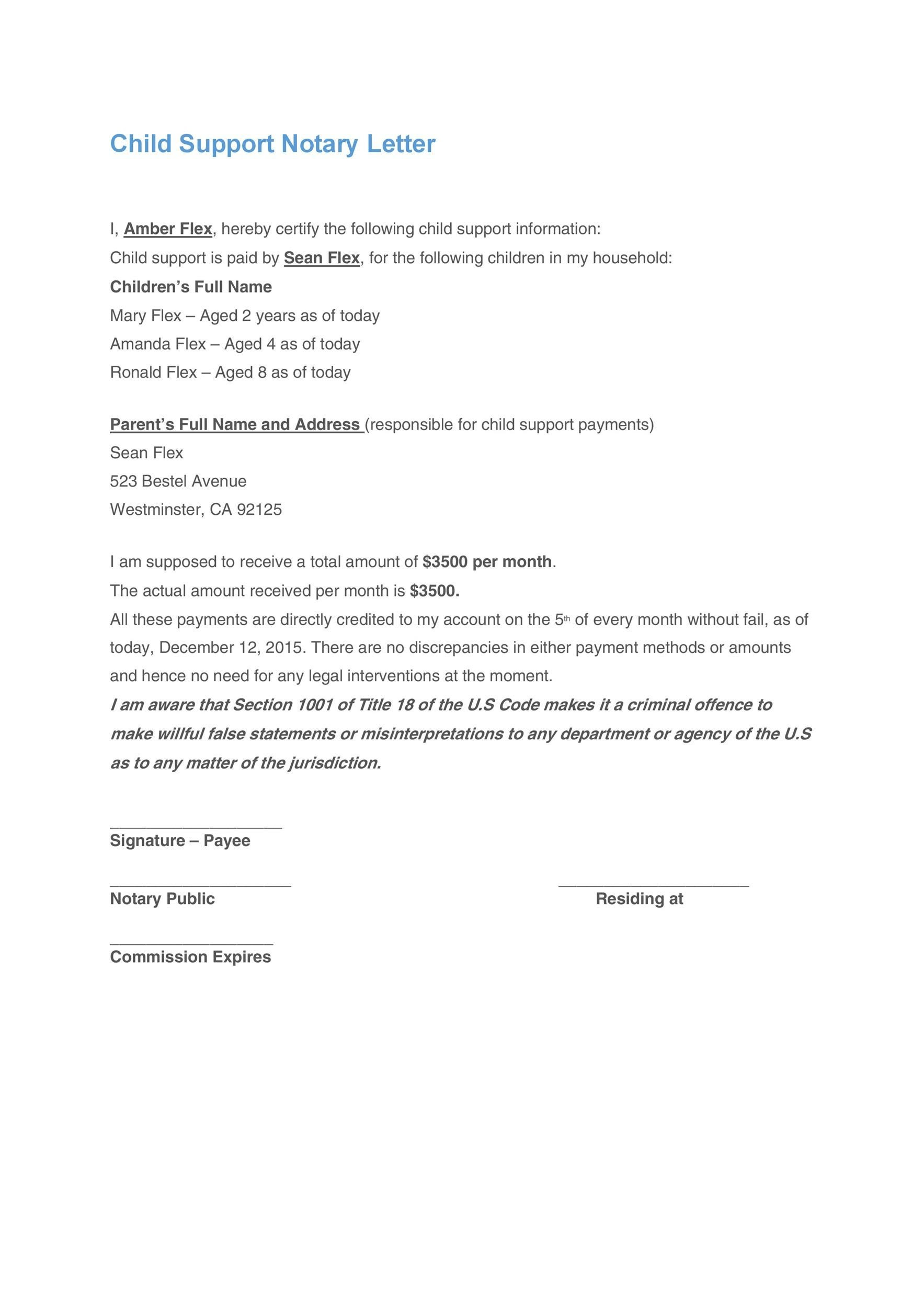 sample support letter for refugee