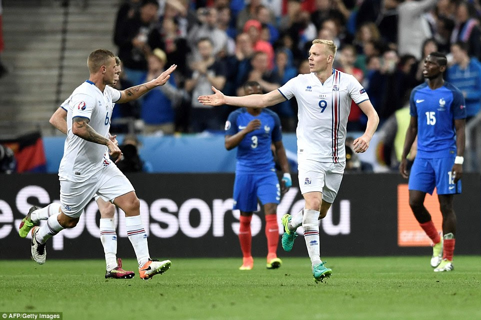However, for Gudmundsson and his Iceland team-mates there was a glimmer of hope after half-time when Kolbeinn Sigthorsson scored