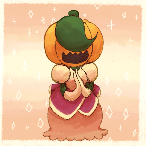Anonymous said: Could you draw Pumpkin in Padparadscha Sapphire's dress? Answer: She predicts someone will request her wearing a lovely dress!