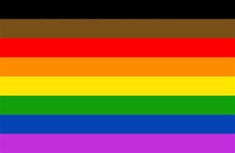 philly unveils  pride flag  black  brown stripes