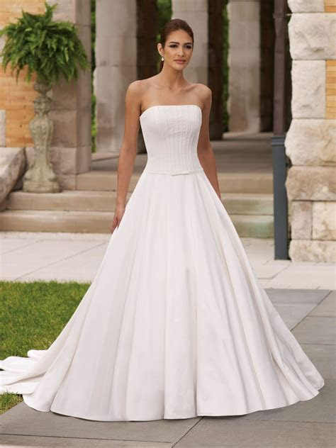 Strapless Wedding Dresses Ball Gown   Dresscab