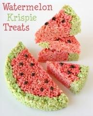 Watermelon-krispie-treats