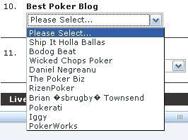 Bluff Magazine's choices for best poker blog