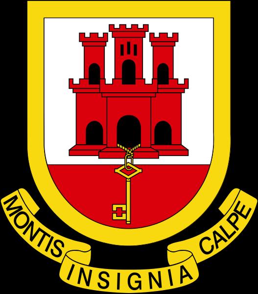 File:Coat of arms of Gibraltar1.svg