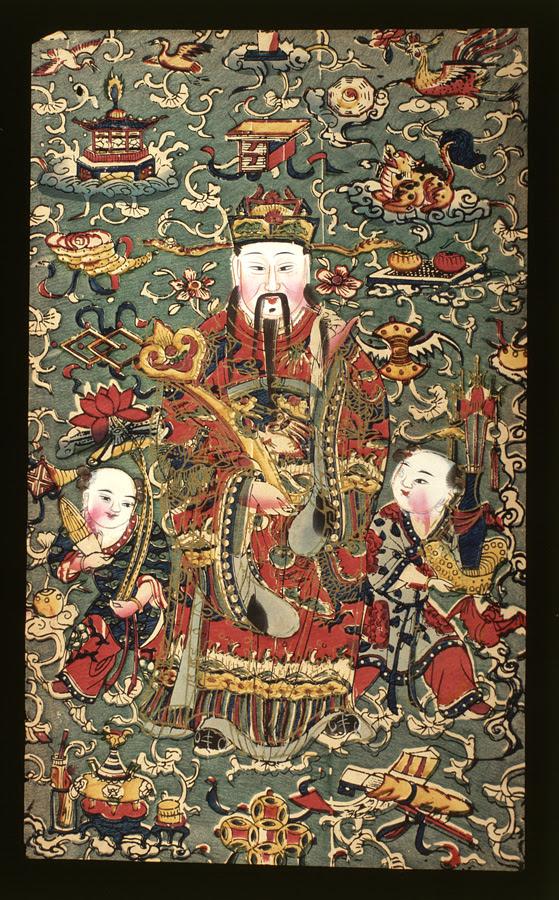 chinese folk god and attendants