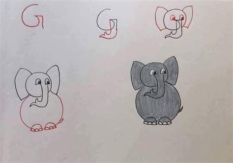 harflerden sevimli cizimler  basit hayvan cizimleri