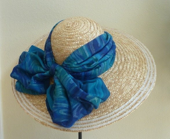 By the Sea straw hat with big brim for weddings, the races, garden and tea parties