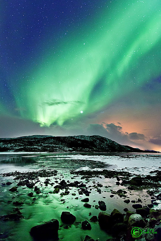 Aurora seen from Nøss, Nordland in Norway, on March 4, 2013. Credit and copyright: Frank Olsen.