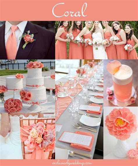 Coral Wedding Receptions on Pinterest   Coral Wedding