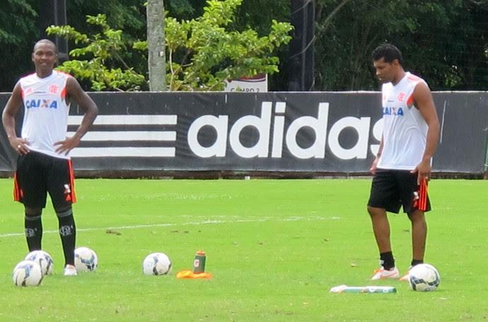 André Santos treino flamengo (Foto: Thales Soares)