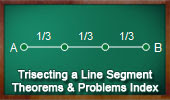 Online Geometry Trisecting a Line Segment, Theorems and Problems, Index.