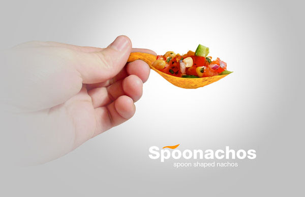 Spoonachos Spoon Shaped Nachos Chips Packaging design 4 30+ Crispy Potato Chips Packaging Design Ideas