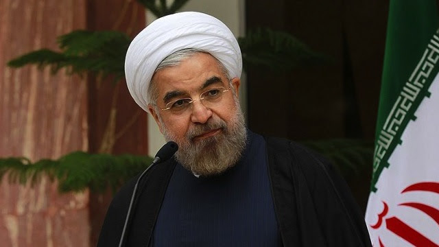 DIPLOMACY WORKS. Iranian President Hassan Rouhani speaking during a press conference on November 24, 2013 in Tehran. AFP PHOTO / HO / IRANIAN PRESIDENCY